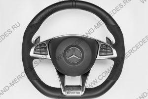 Руль AMG 45 Mercedes GLA с алькантарой