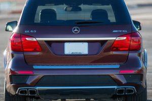 Задний диффузор с насадками AMG 6.3 Mercedes GL класс