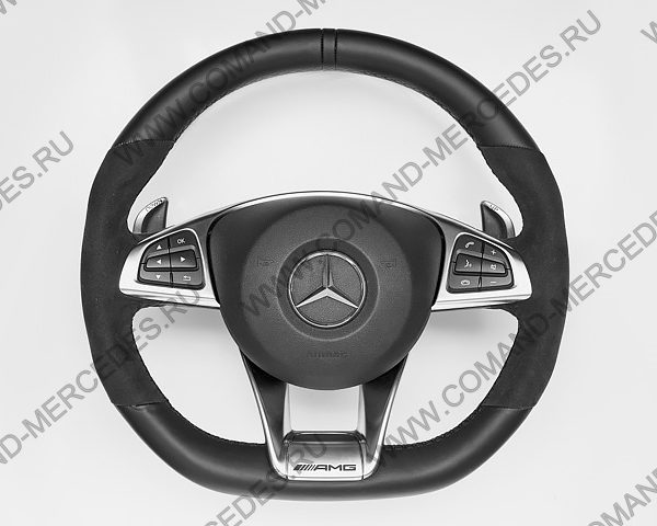 Руль AMG 45 Mercedes CLA с алькантарой