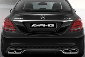 Задний диффузор с насадками AMG 6.3 Mercedes C класс