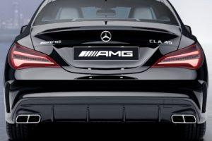 Задний диффузор с насадками AMG 6.3 Mercedes CLA