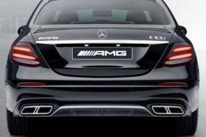 Задний диффузор с насадками AMG 6.3 Mercedes E класс