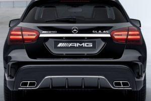Задний диффузор с насадками AMG 6.3 Mercedes GLA