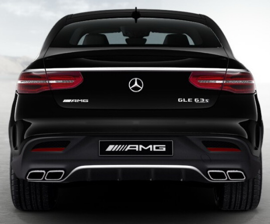 Задний диффузор с насадками AMG 6.3 Mercedes GLE