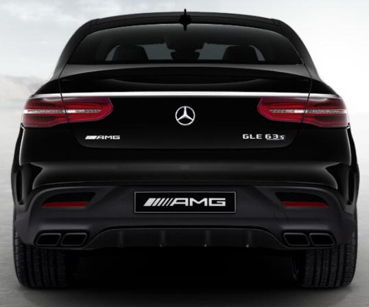 Задний диффузор с насадками AMG 6.3 Mercedes GLE под Night-пакет