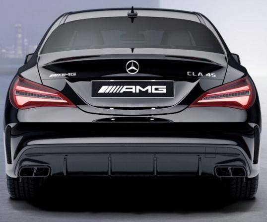 Задний диффузор с насадками AMG 6.3 Mercedes CLA под Night-пакет