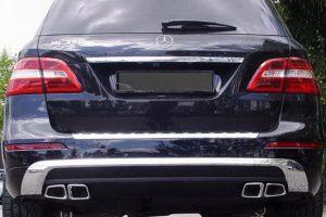 Задний диффузор с насадками AMG 6.3 Mercedes ML класс