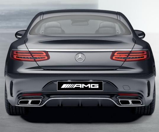 Задний диффузор с насадками AMG 6.3 Mercedes S класс